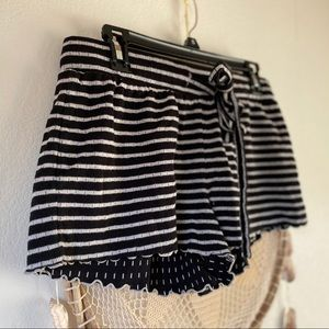 Madewell Striped Knit Shorts Sz M
